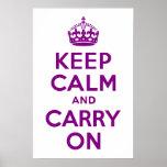 La púrpura guarda calma y continúa poster