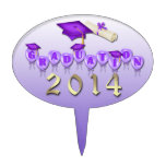 La púrpura hincha el primero oval de la torta de l decoraciones para tartas