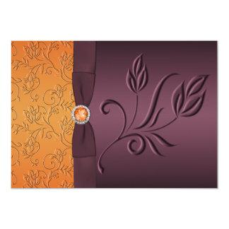 La púrpura IMPRESA de la CINTA, boda de la Invitacion Personalizada