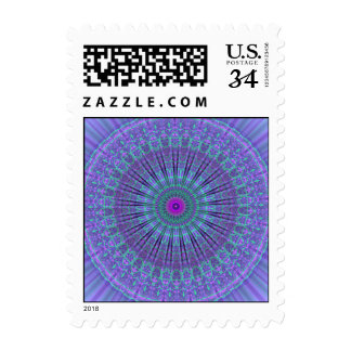 La púrpura inspira el caleidoscopio de la mandala sello postal