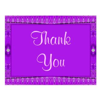 la púrpura le agradece postales