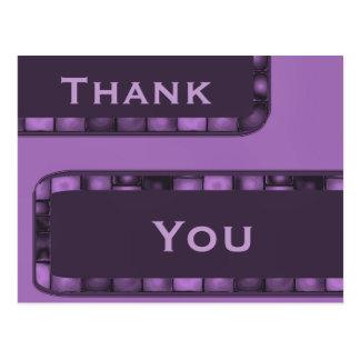 La púrpura le agradece tejar tarjeta postal