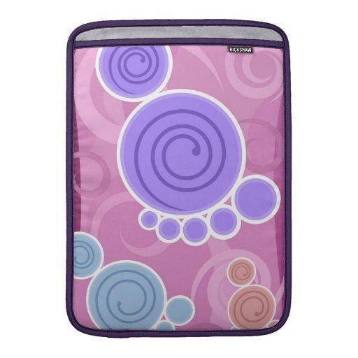 La púrpura mancha la manga de aire de Macbook Funda Macbook Air