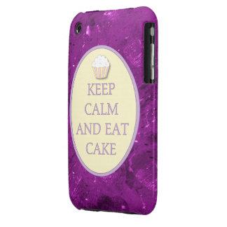 La púrpura mantiene tranquilo para comer la caja 3 iPhone 3 Case-Mate coberturas