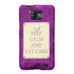 La púrpura mantiene tranquilo para comer la galaxi samsung galaxy s2 carcasa