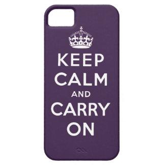 La púrpura mantiene tranquilo y continúa el caso funda para iPhone SE/5/5s