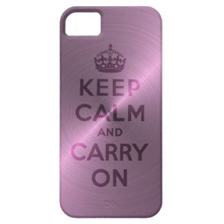 La púrpura metálica guarda calma y continúa iPhone 5 fundas