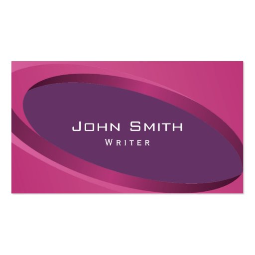 La púrpura moderna curva la tarjeta de visita del