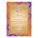 La púrpura, naranja, FALSO boda del brillo del oro Comunicados
