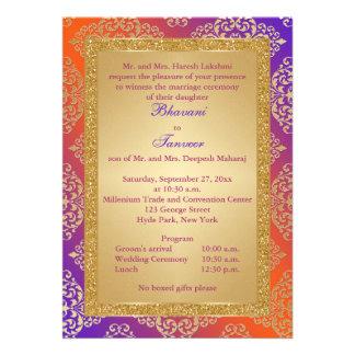 La púrpura naranja FALSO boda del brillo del oro Comunicados