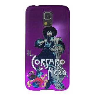 La púrpura NEGRA del CORSARIO Carcasas Para Galaxy S5