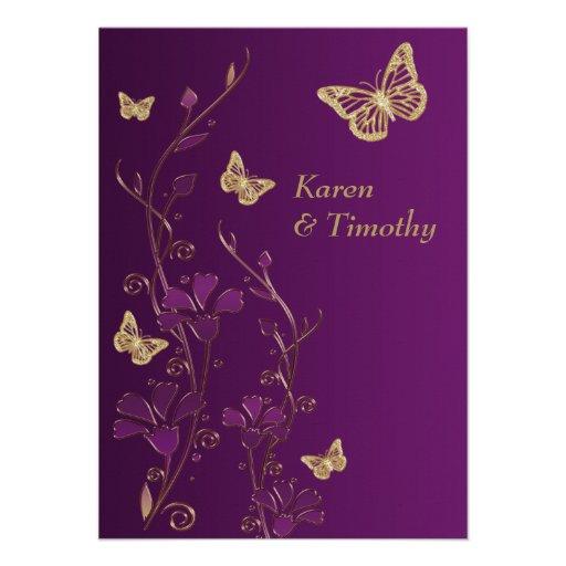 La púrpura, oro floral, el casarse de las mariposa anuncios