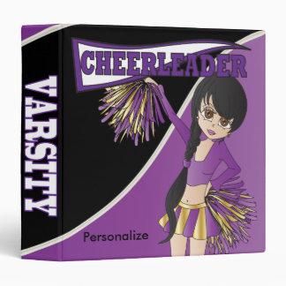 """La púrpura personaliza a la animadora de la diva carpeta 1 1/2"""""""