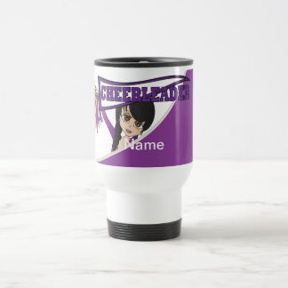 La púrpura personaliza las tazas de la animadora