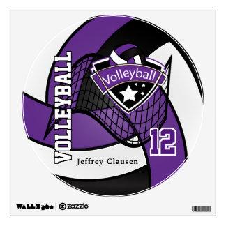 La púrpura personaliza voleibol vinilo adhesivo