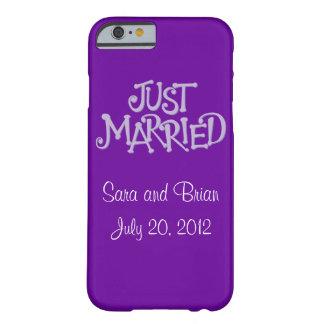 La púrpura personalizada acaba de casar la caja funda para iPhone 6 barely there