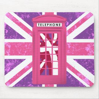 La púrpura, pica la cabina de teléfono del vintage mouse pads