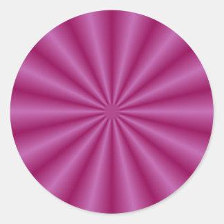 La púrpura plisa alrededor del pegatina