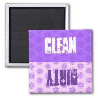 La púrpura protagoniza el lavaplatos sucio limpio iman