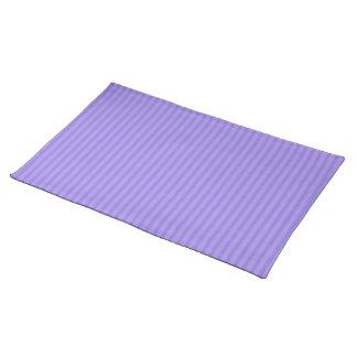 La púrpura púrpura del iris raya hacer juego manteles individuales