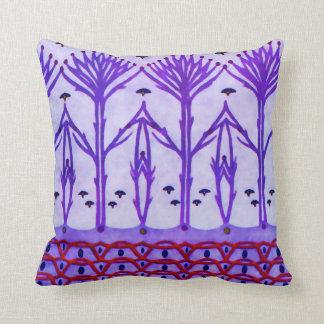 La púrpura ramifica las almohadas de MoJo del amer