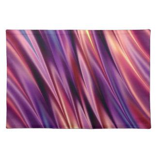 La púrpura raya colores de la puesta del sol mantel individual