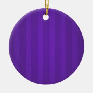 La púrpura raya el ornamento personalizado navidad