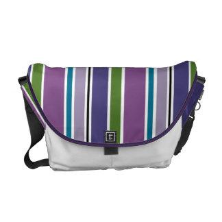 La púrpura raya la bolsa de mensajero bolsas messenger
