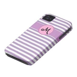 La púrpura raya la casamata 4 del iPhone del iPhone 4 Case-Mate Protector