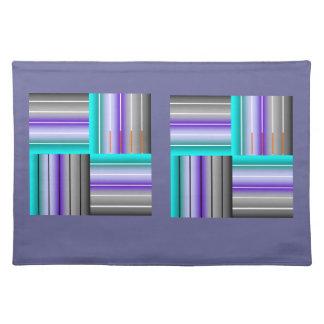 la púrpura raya la estera de lugar mantel individual