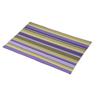 La púrpura raya Placemats Manteles Individuales