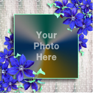 La púrpura real florece el marco de la foto - escu esculturas fotograficas