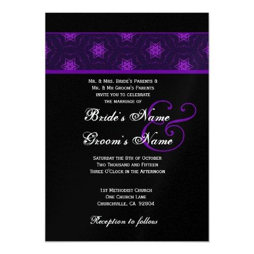 La púrpura real protagoniza casar la invitación