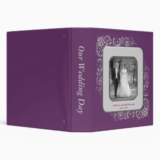 La púrpura remolina álbum del boda del marco de la