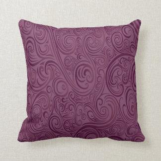La púrpura remolina almohada de tiro cojín decorativo