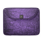La púrpura remolina fondo fundas para macbooks