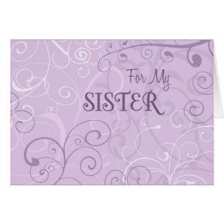 La púrpura remolina tarjeta de la invitación de la