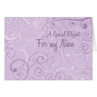 La púrpura remolina tarjeta de la invitación del f