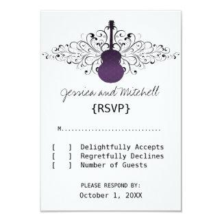 La púrpura remolina tarjeta de la respuesta de la invitación 8,9 x 12,7 cm