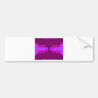 La púrpura rosada de las rosas fuertes soña Cricke Etiqueta De Parachoque