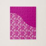 La púrpura rosada magenta teja los regalos del mod rompecabezas