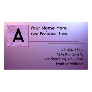 La púrpura rosada se descolora las tarjetas de vis