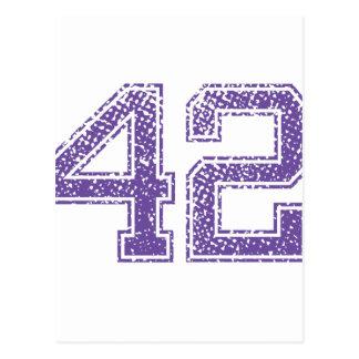 La púrpura se divierte el número 42.png de Jerzee Postal