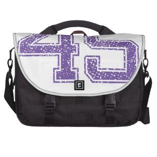 La púrpura se divierte el número 45.png de Jerzee Bolsas De Portatil