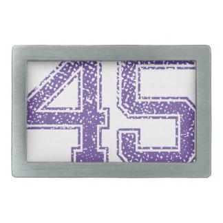 La púrpura se divierte el número 45.png de Jerzee Hebilla Cinturon Rectangular