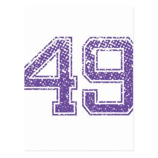La púrpura se divierte el número 49.png de Jerzee Postales