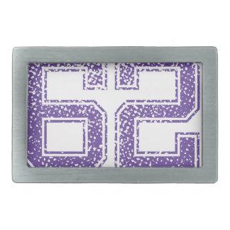 La púrpura se divierte el número 62.png de Jerzee Hebilla Cinturón Rectangular