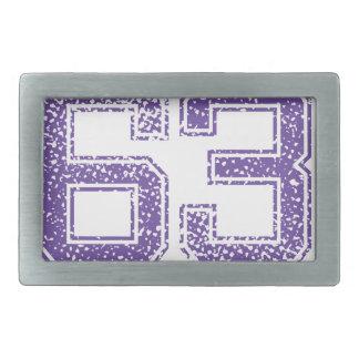 La púrpura se divierte el número 63.png de Jerzee Hebillas De Cinturón Rectangulares
