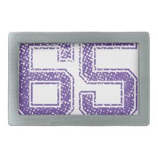 La púrpura se divierte el número 65.png de Jerzee Hebilla De Cinturon Rectangular
