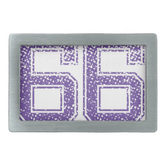 La púrpura se divierte el número 66.png de Jerzee Hebilla De Cinturón Rectangular